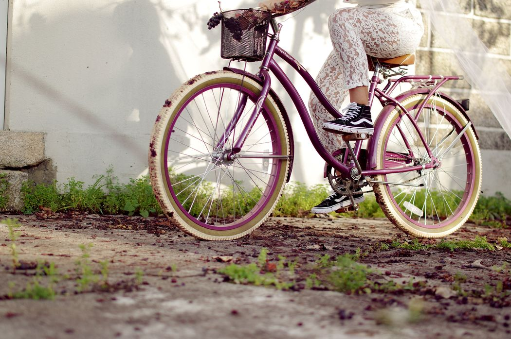 Vintage Delux Cruiser Bike (roxo)