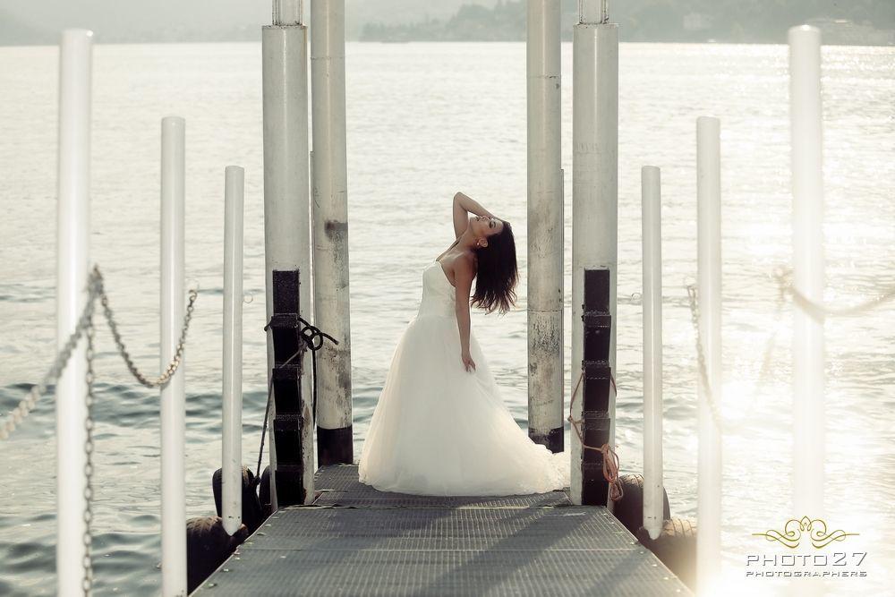 Sposa sul lago di Como