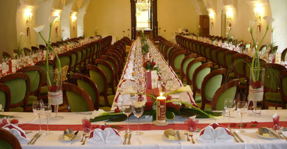 Beispiel: Hochzeitstafel, Foto: Kartause Gaming.