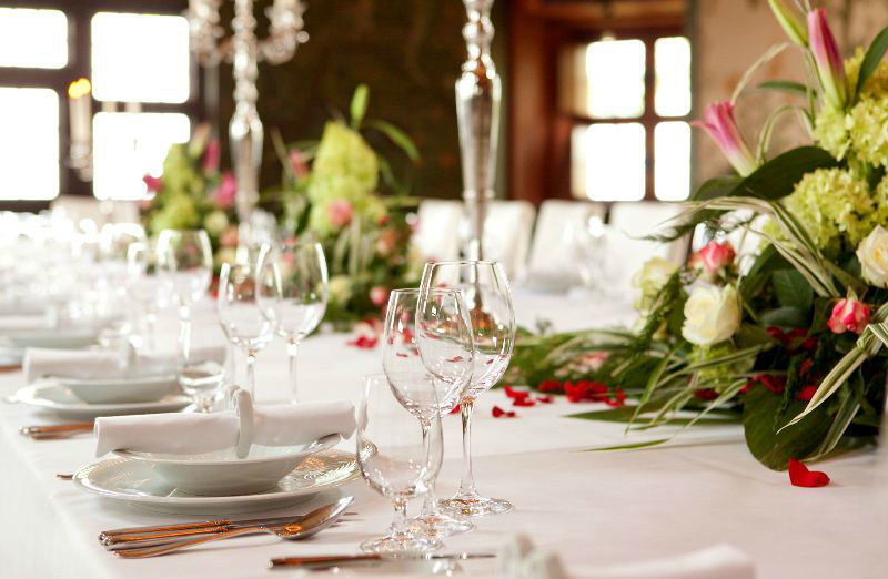 Tischdekoration, Foto: Hotel auf der Wartburg