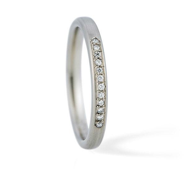 Beispiel: Verlobungsring - Weissgold, Foto: Juwelier Stöckle.