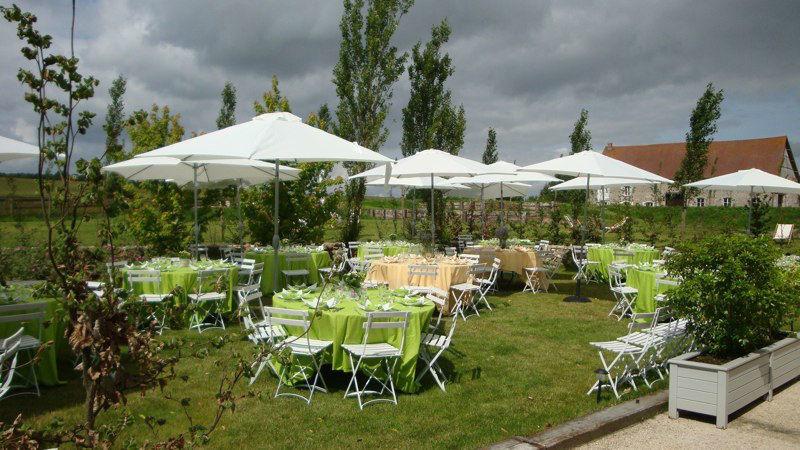 Réception sur la terrasse de la Grange Mauvoisin