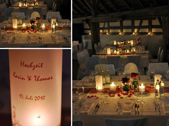 Beispiel: Dekoideen für Ihre Hochzeit, Foto: Deko & Design.