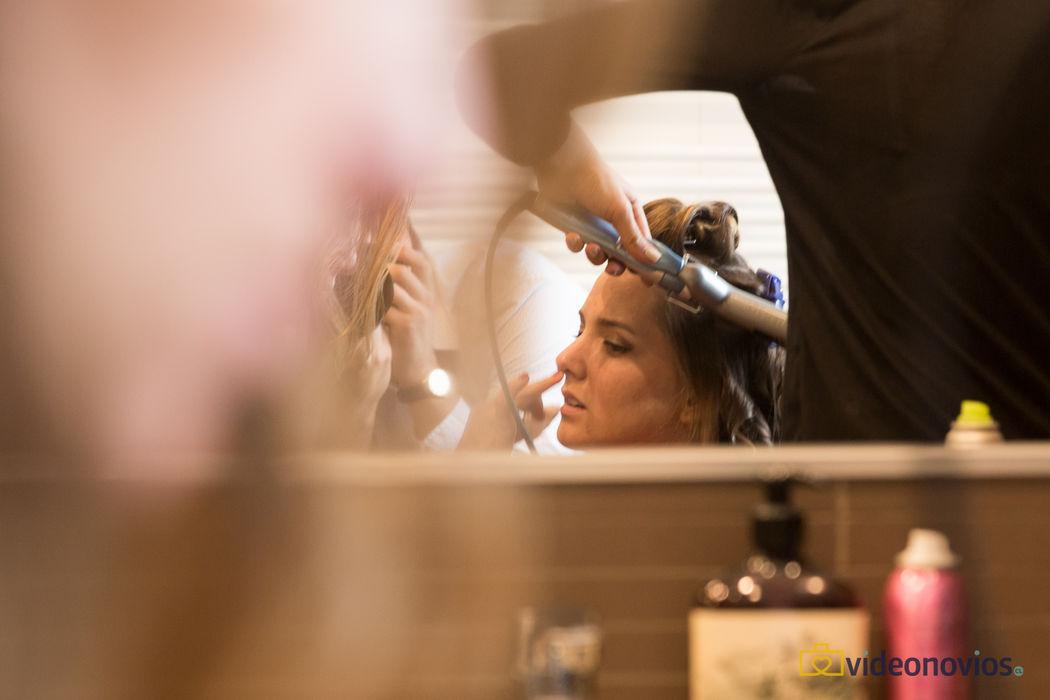 Detalle peinado - Prepraración de la novia