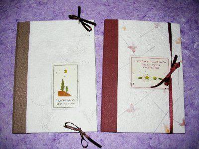 La cigüeña de papel, libro de firma de bodas