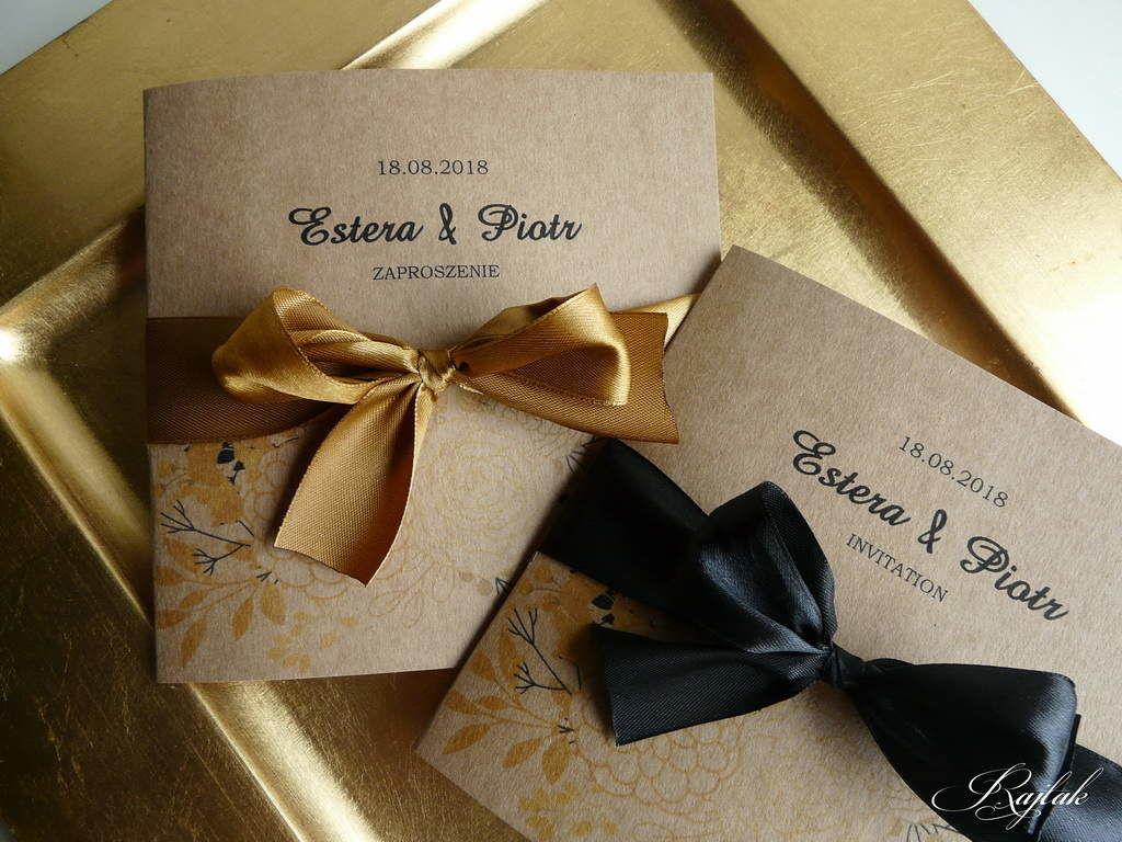 zaproszenia ślubne RAJTAK