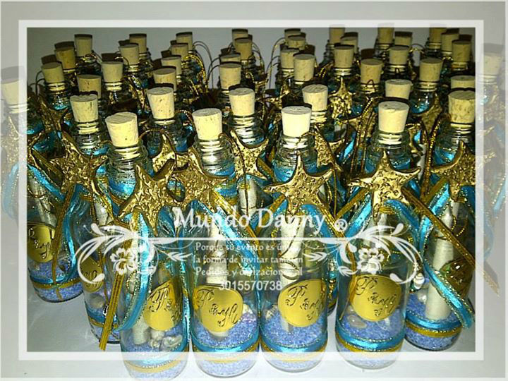 Invitaciones en botella Boda en la Playa