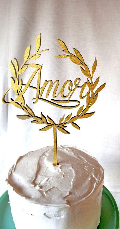 Cake Topper Amor