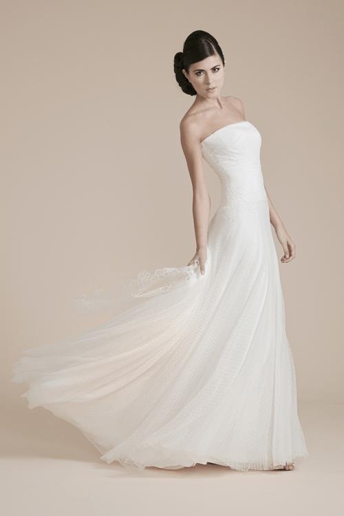 GIULIA  : Abito Sposa in Plumetis  Collezione - Leggerezza- Couture Hayez Atelier