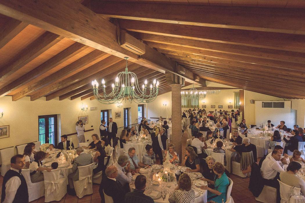 Il salone delle feste durante un ricevimento
