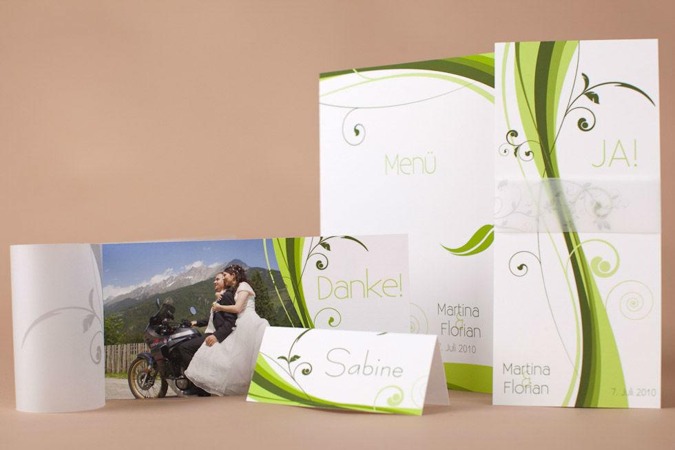 Beispiel: Kreative Hochzeitseinladungen, Foto: Dankeskarte.com.