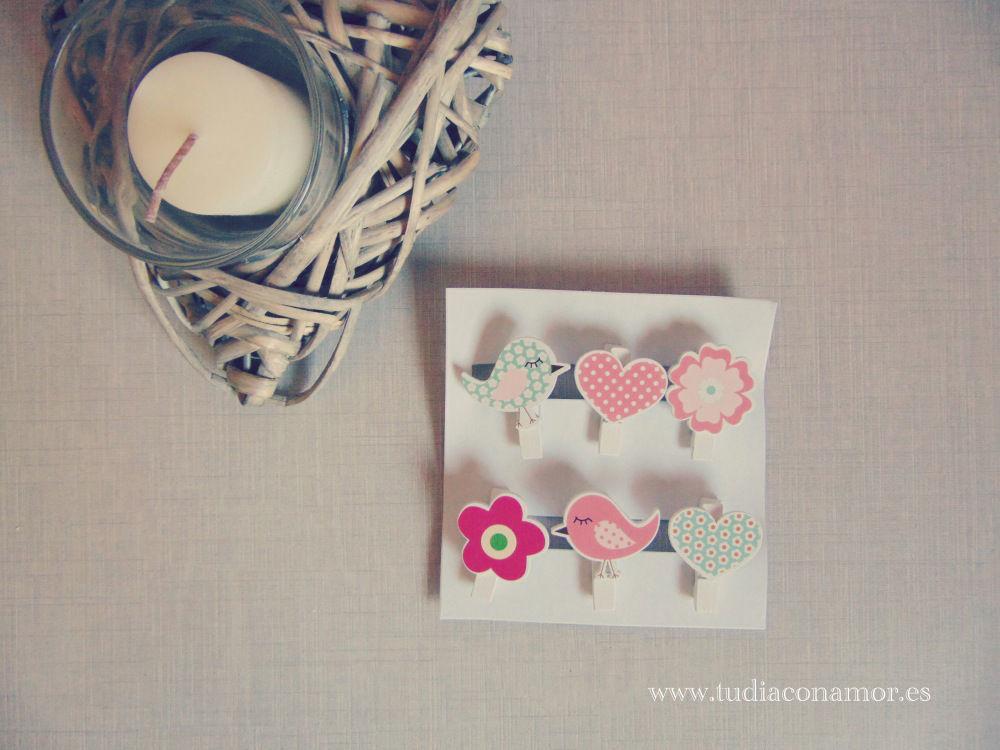 Pinzas de madera decorativas