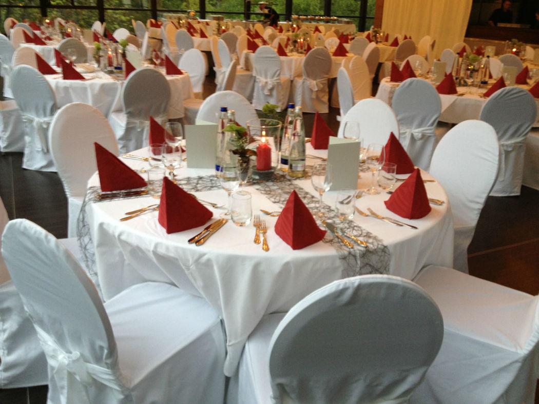Beispiel: Tischdekoration, Foto: Parkside Events.
