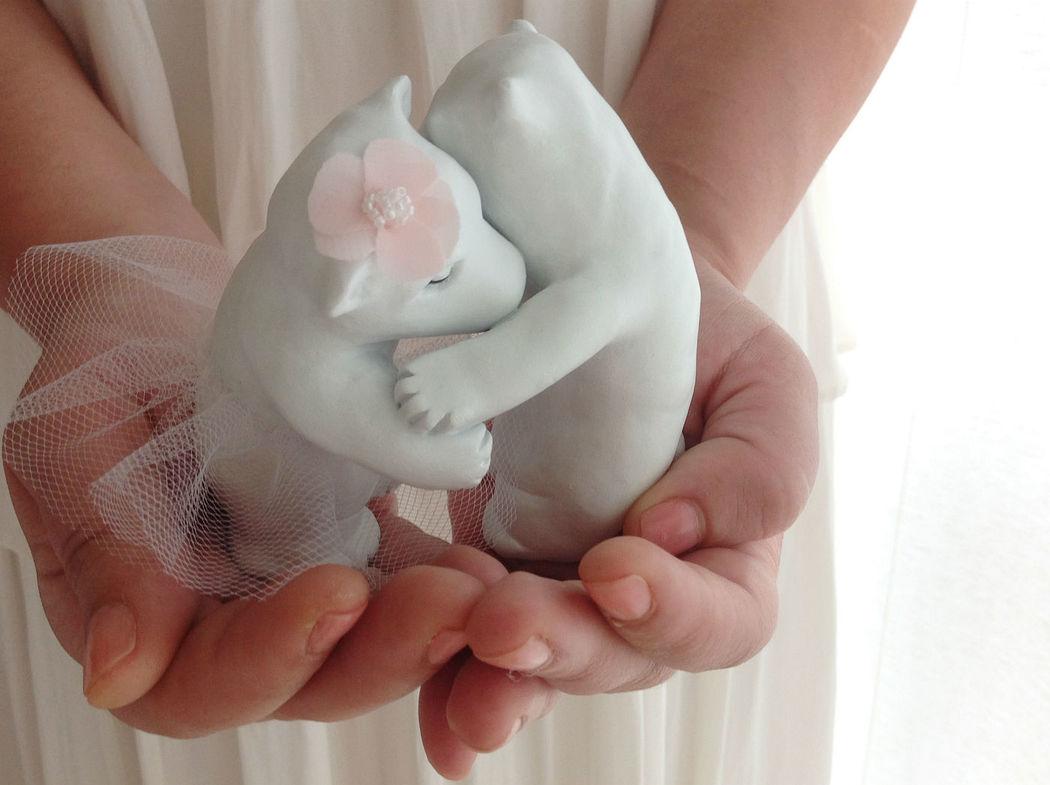 Topo de bolo ursos polares