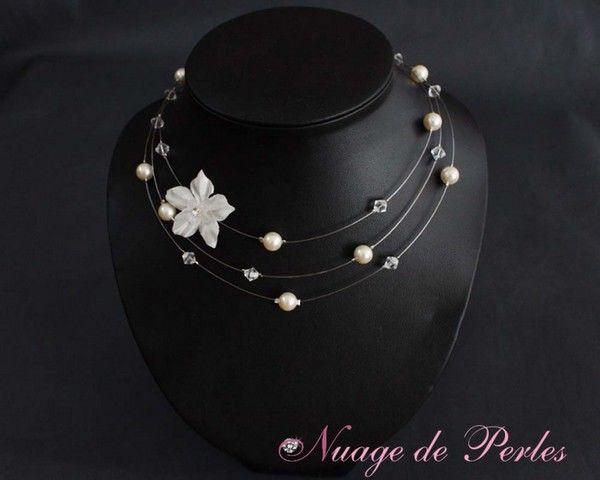 Collier de mariée en perles