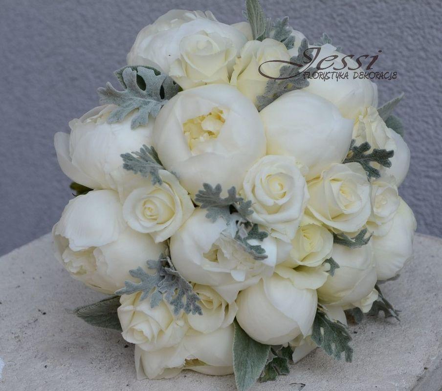 bukiet ślubny   #bieliszarosc