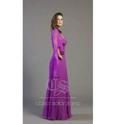 Vestido morado de gasa