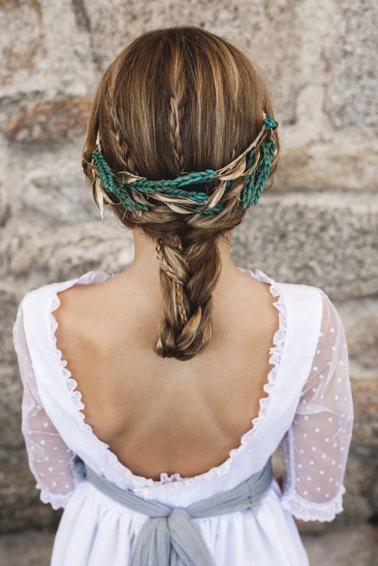 #trenzaPuer by Marieta Hairstyle Foto Click10 Tocado Mimoki Vestido Navascués