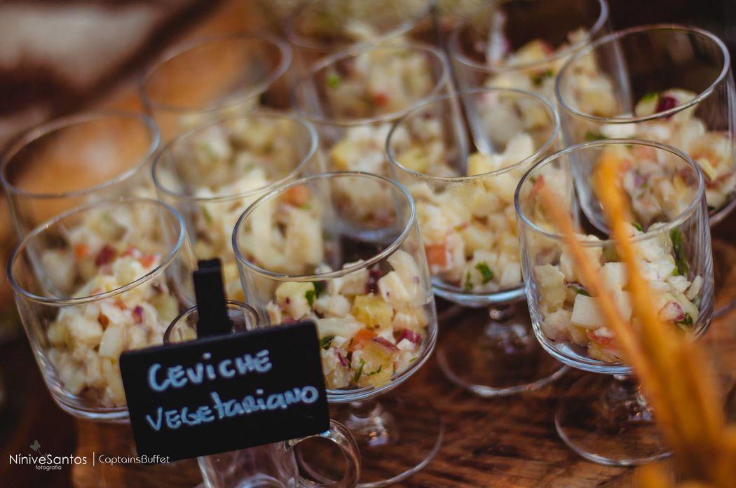 Ceviche Vegetariano - Mesa de antepastos