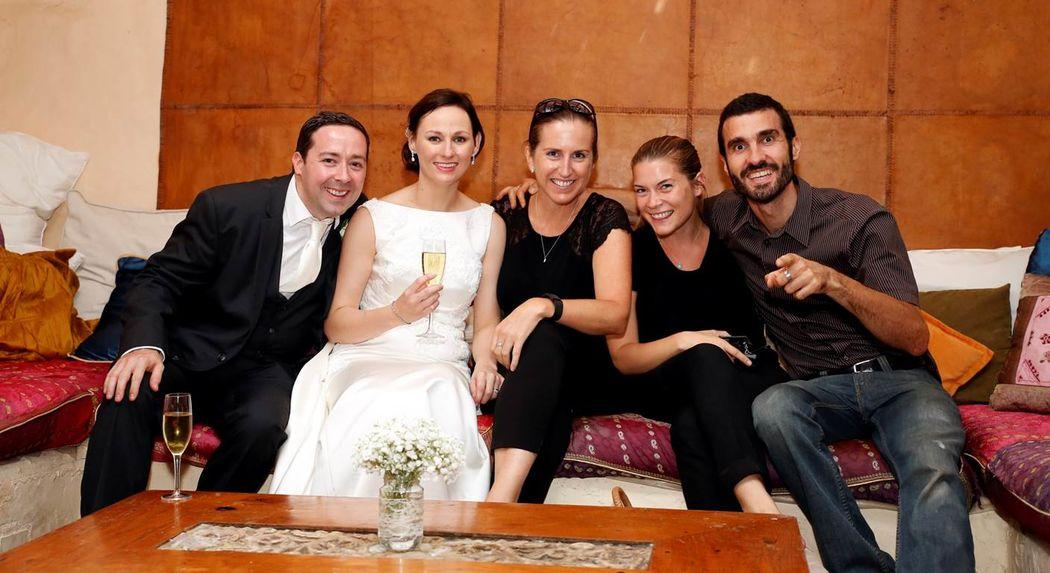 Weddings Via Val con los novios Claire & Brian