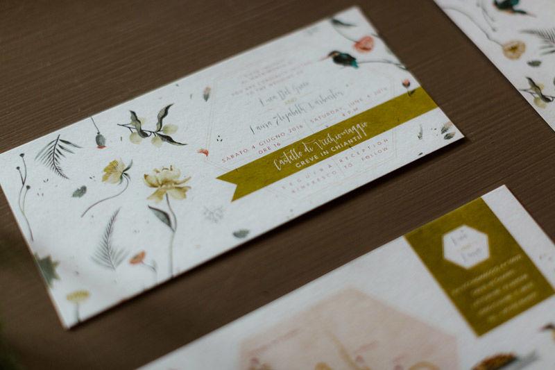 Invito: illustrazioni e grafica a tema botanico - foto di Erin & Gabri Photography