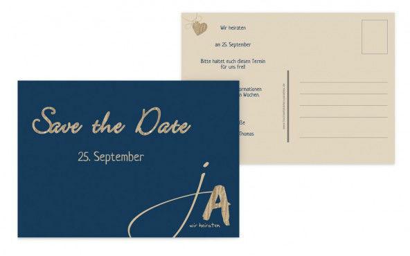 Beispiel: Persönliche Save-the-Date Karten, Foto: Hochzeitskarten- Paradies.