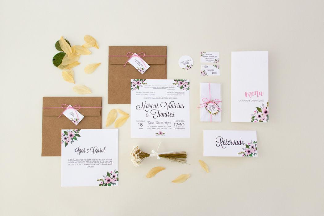 Convite Floral - Tamires e Marcus
