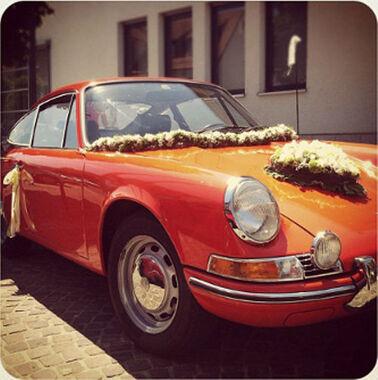 Beispiel: Ihr Hochzeitsauto - ein Porsche Coupe, Foto: Hamburger Oldtimer Verleih.