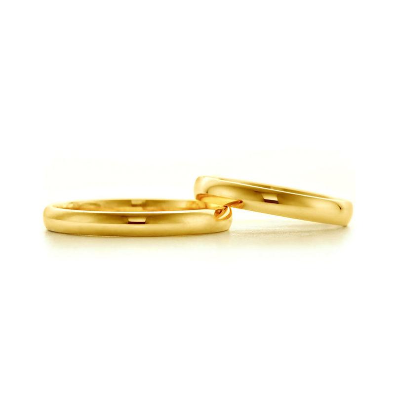 Obrączki z żółego złota