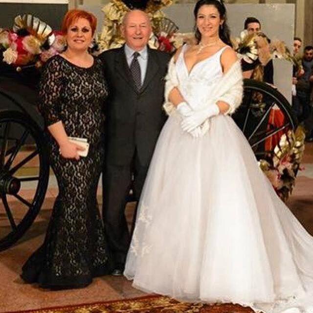 Barbara con Sposa e papà