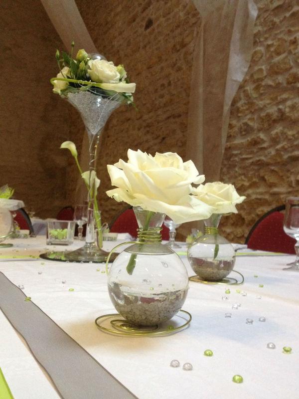 Décoration florale sur table