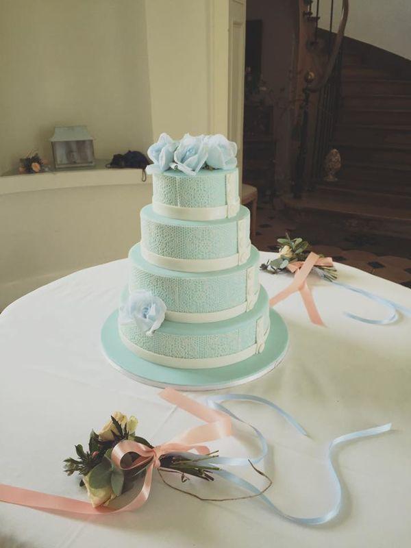 Wedding Cake Bleue