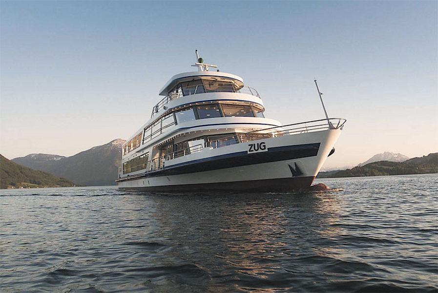 Beispiel: Flotte, Foto: Zugersee Schifffahrt.