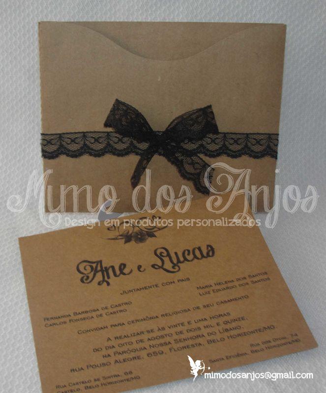 Convite Mimo dos Anjos rustico