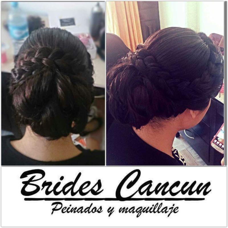 peinado con trenza ideal para el clima de cancun.