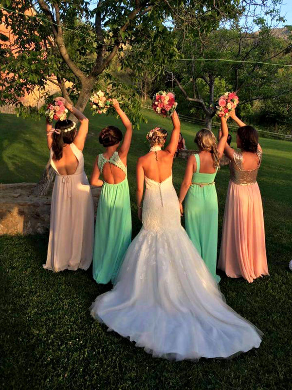 novia y sus damas de honor