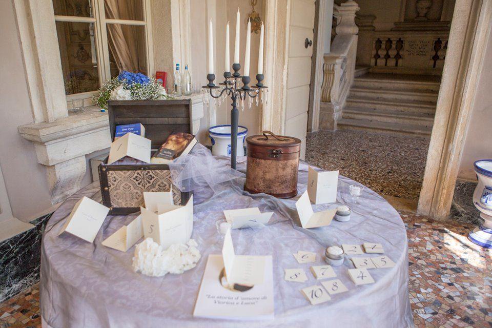 Tableau mariage libri Kreativa Eventi