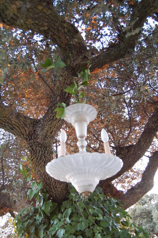 Detalle lámpara antigua