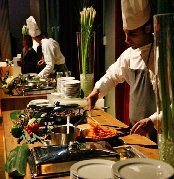 Beispiel: Catering, Foto: Palais Kulturbrauerei.