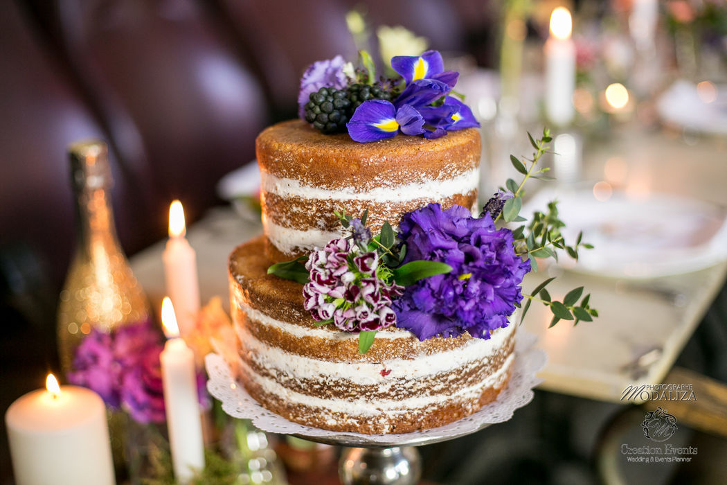 Naked cake gateau mariage reportage soirée - Modaliza Photographe
