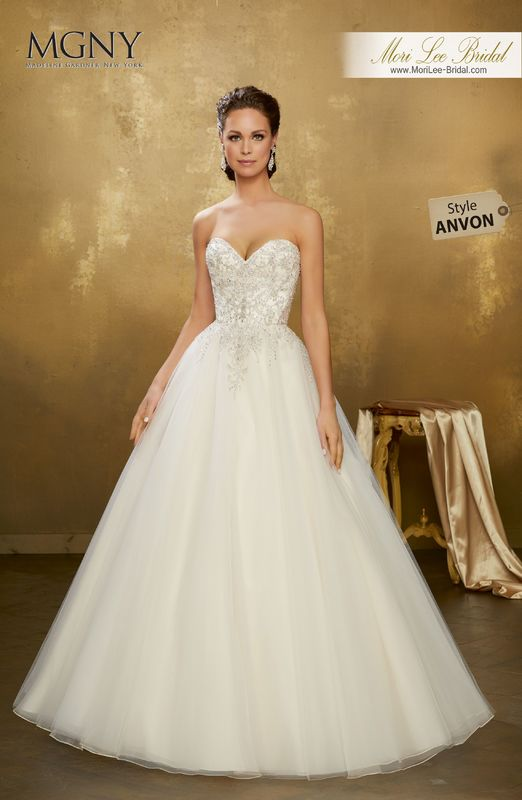 Style ANVON Odysseia  Diamanté and crystal beaded embroidery on a tulle ball gown