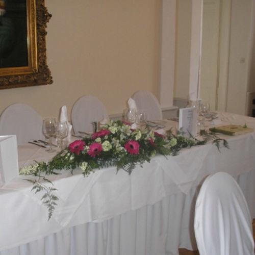 Beispiel: Florale Dekoration, Foto: Blumen Beilner.