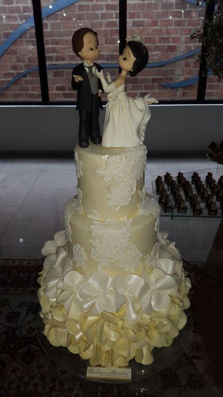 Bolo Decorado para casamento Confeitaria Adalgisa Almeida