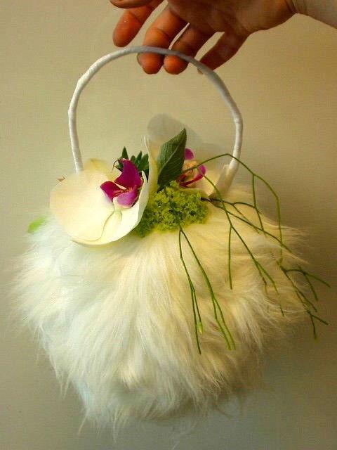 Beispiel: Brauttasche, Foto: Blumenelfen Griessmaier.
