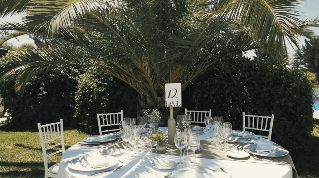 Meseros de mesa diseñados por Wedding Warriors