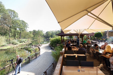 Beispiel: Ryokan Terrasse am See, Foto: Pangung Tropengarten und Ryokan Seeterrassen.
