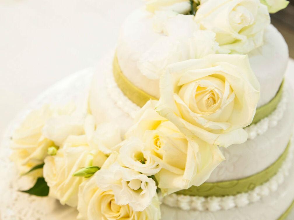 Beispiel: Ihre Hochzeitstorte, Foto: Gammacatering.