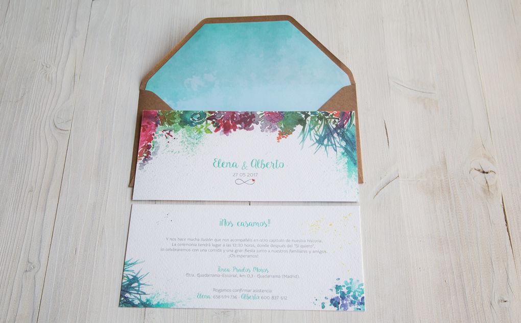 Invitación Elena y Alberto