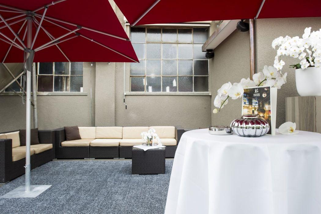 Beispiel: Terrasse, Foto: Die Giesserei.