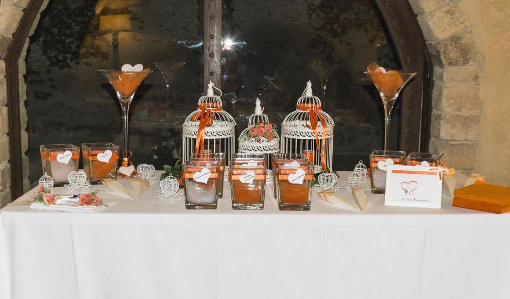 Confettata Arancio e cuori